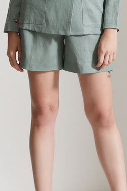 Ferdinand Pleat Front Basil Green Short