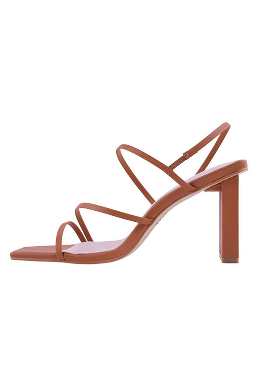 Geanie Toffee Nude Strappy Heel