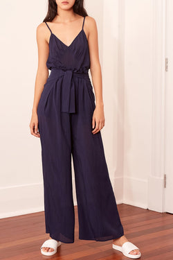 Gilded Navy Wide Leg Pant