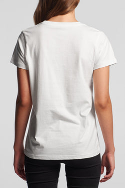 Organic Cotton Girl Boss White Tee