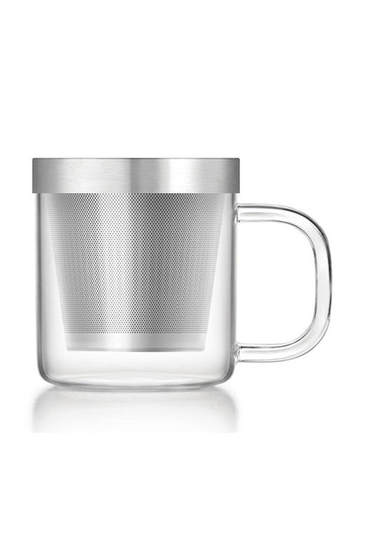 Glass Mug with Stainless Steel Infuser