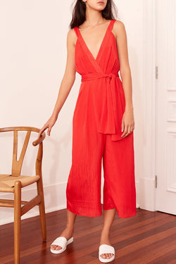 Gilded Scarlet Strappy Wide Leg Jumpsuit