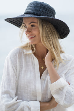 Sundowner Black Straw Hat