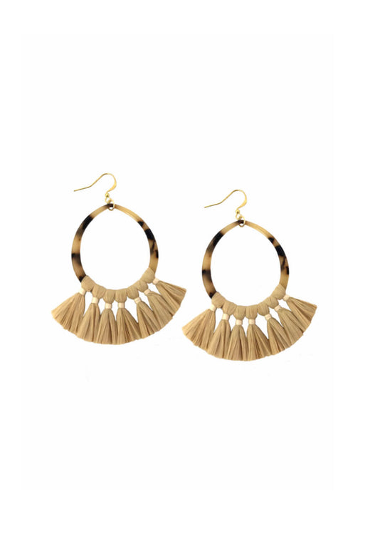 Raffia Natural Fan Earrings