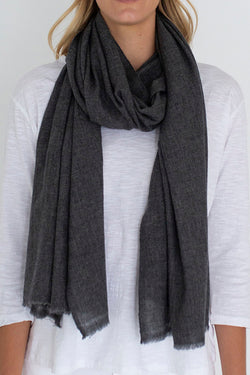 Melange Wool Scarf Grey