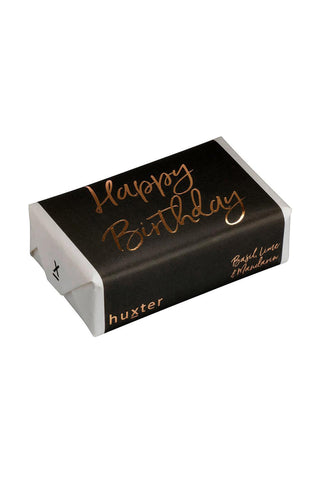 Happy Birthday Grey with Rose Gold Soap