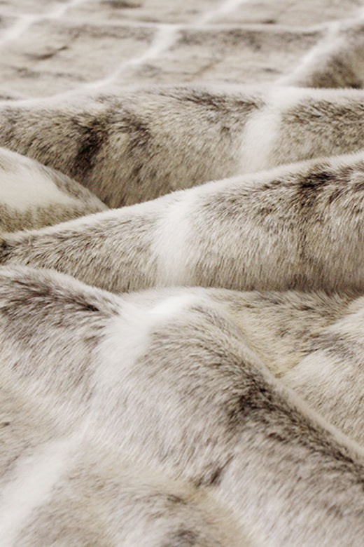 Heirloom Faux Fur Mountain Rabbit Throw