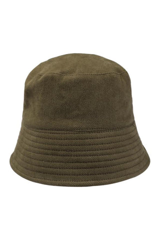 Olive Reversible Heavy Drill Cotton Bucket Hat