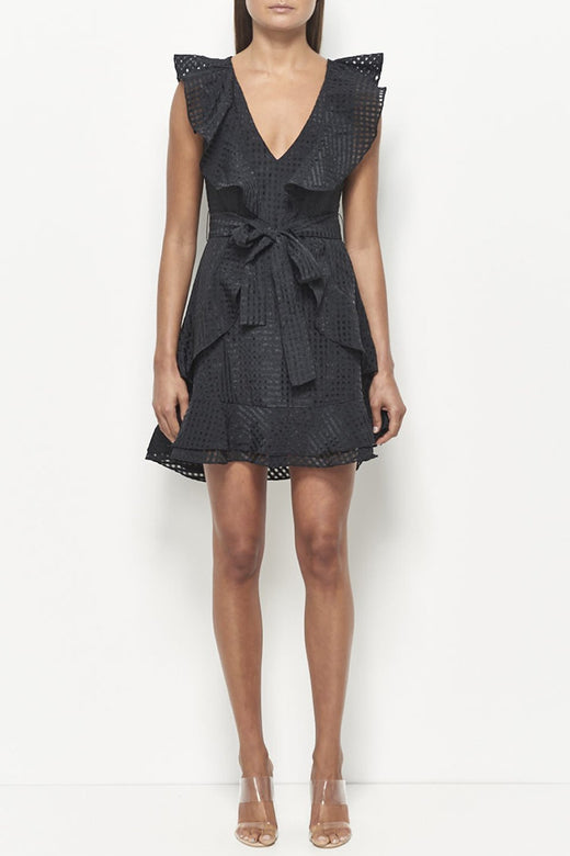Dina Organza Black Dress