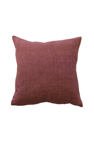 Indira Red Clay Linen Cushion 55x55cm