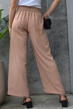 Instinct Clay Flat Front Stretch Back Wide Leg Pant