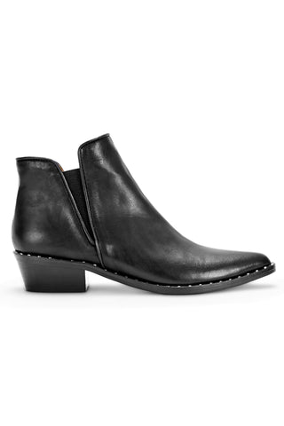 Atlanta Black Sauvage Ankle Boot with Stud detail