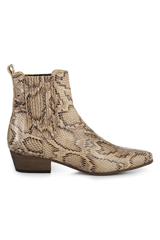 Bailey Faux Python Beige Ankle boot