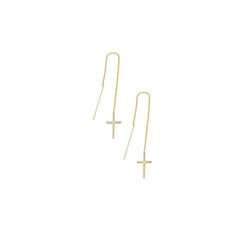 Threaded Cross Earrings