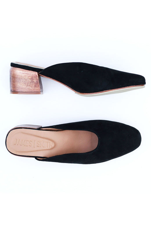 Cafe Society Suede Heels Black