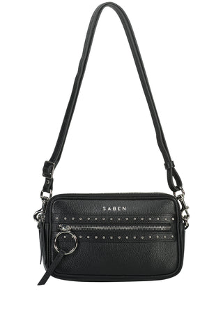 Jaxon Black Stud Cross Body Bag