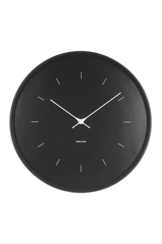 Butterfly Black Round Wall Clock