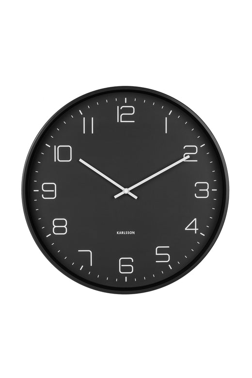 Lofty Matt Black Round Clock