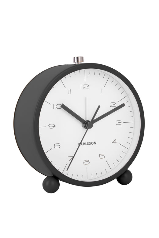 Pellet Feet Black Alarm Clock