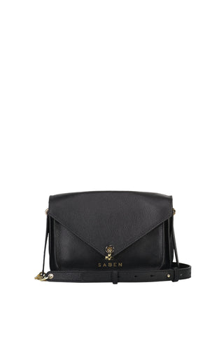 Kaya Black Leather Shoulder Bag