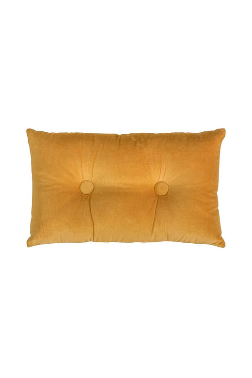 Velvet Linen Rectangle Mustard Cushion
