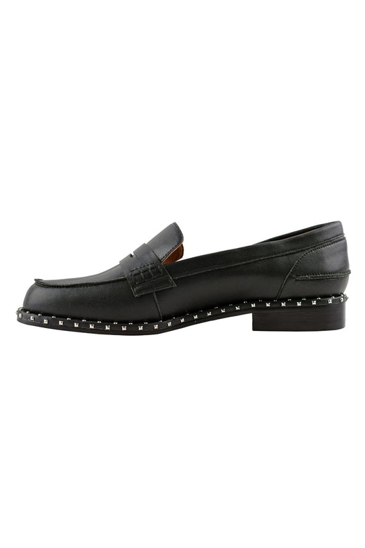 Lloyd Black Loafer with Studs