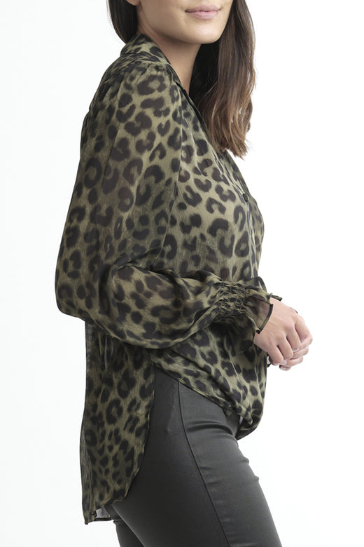 Gala Twist LS Khaki Animal Shirt
