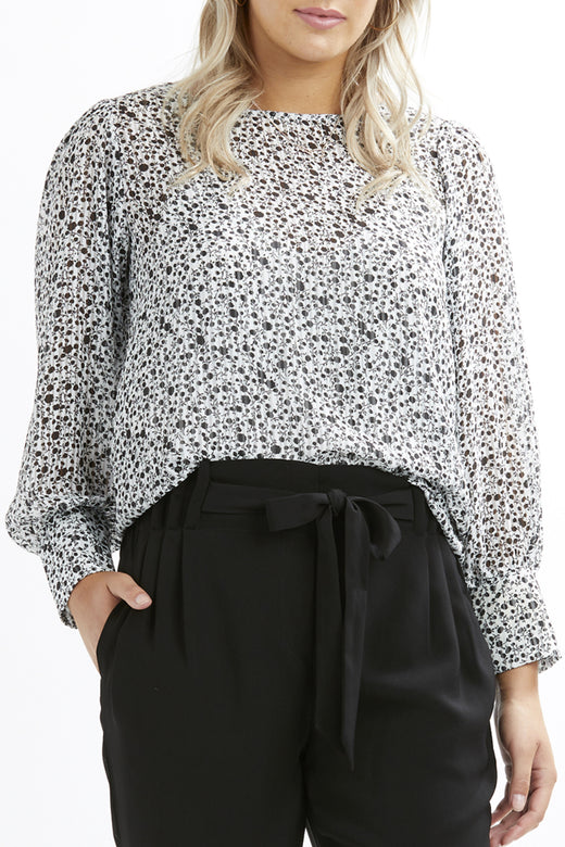 The Carrier Ivory Floral LS Essential Top