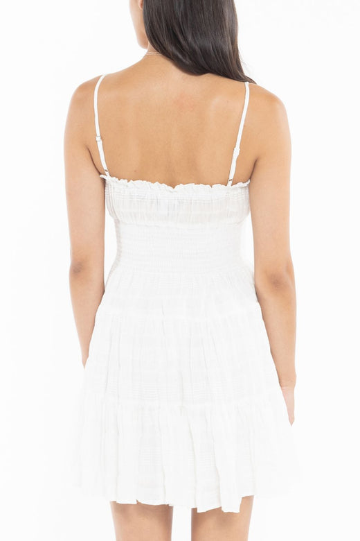 Stella White Strappy Mini Dress