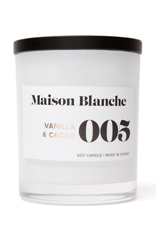 Large Vanilla & Cacao Candle 400g