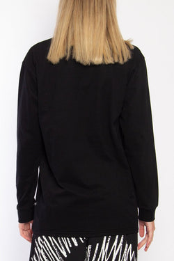 LS Good Cuff Coordinates Graphic Black Sweat