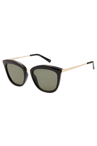 Caliente Black Gold Arms Khaki Lens Sunglasses