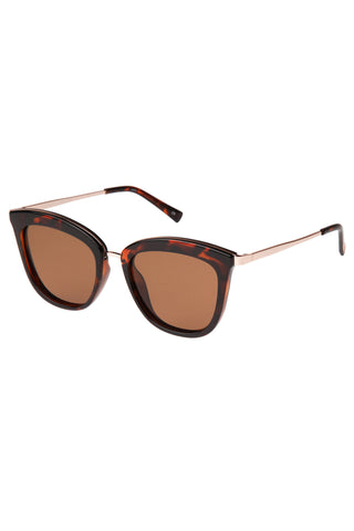 Caliente Tort Gold Arms Brown Polarised Lens Sunglasses