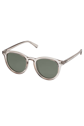 Fire Starter Round Clear Stone Khaki Polarised Lens Sunglasses