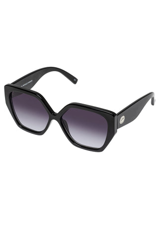 So Fetch Oversized Square Black Smoke Gradient Lens Sunglasses