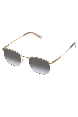 Alto Hexagonal Gold Smoke Gradient Lens Sunglasses