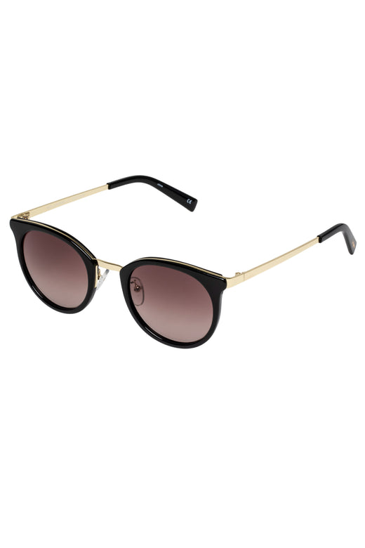 No Lurking Black Brown Gradient Lens Sunglasses