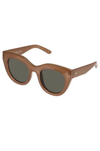 Air Heart Cat Eye Caramel Khaki Lens Sunglasses