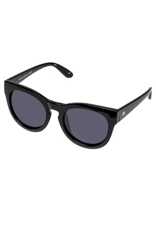 Jealous Games Cat Eye Oversized Black Smoke Polarised Lens Sunglasses