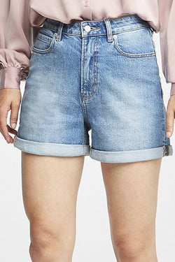Stevie High Rise Relaxed Pale Blue Tenacity Denim Short