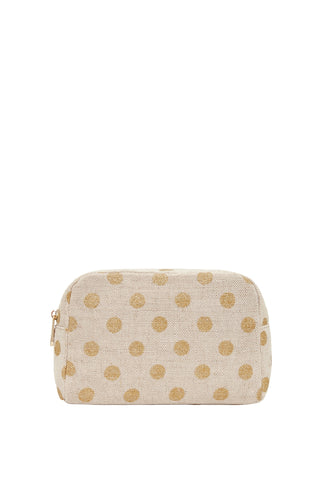 Large Cosmetics Bag Gold Spot