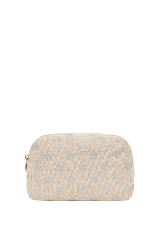 Large Cosmetics Bag Silver Spot