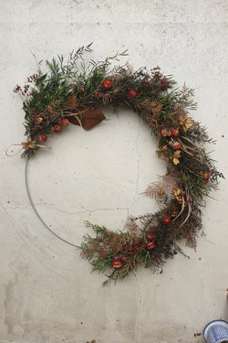 Large Dried Flower Wreath 50cm Autumn