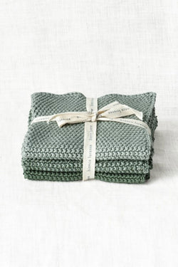 Textured Lavette Sage Wash Cloths Set of 3