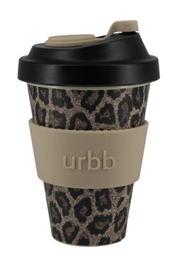 Reuseable Bamboo Pink Leopard Cup