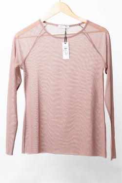 Fine Mesh LS Rose Top