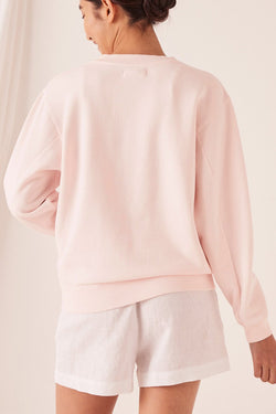 Logo Fleece Pink Dew Jumper