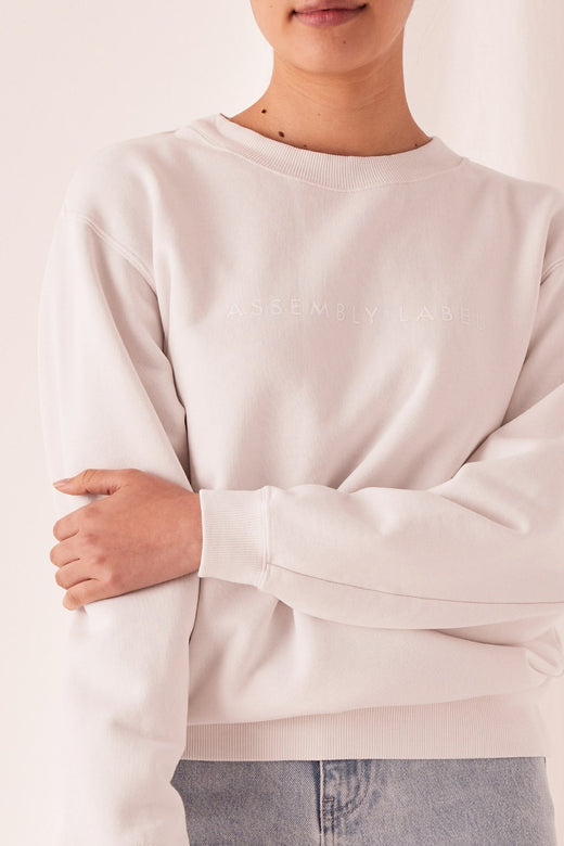 Logo Fleece Silver Grey Jumper