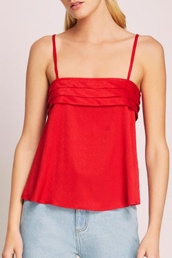 Lotti Strappy Swing Red Cami