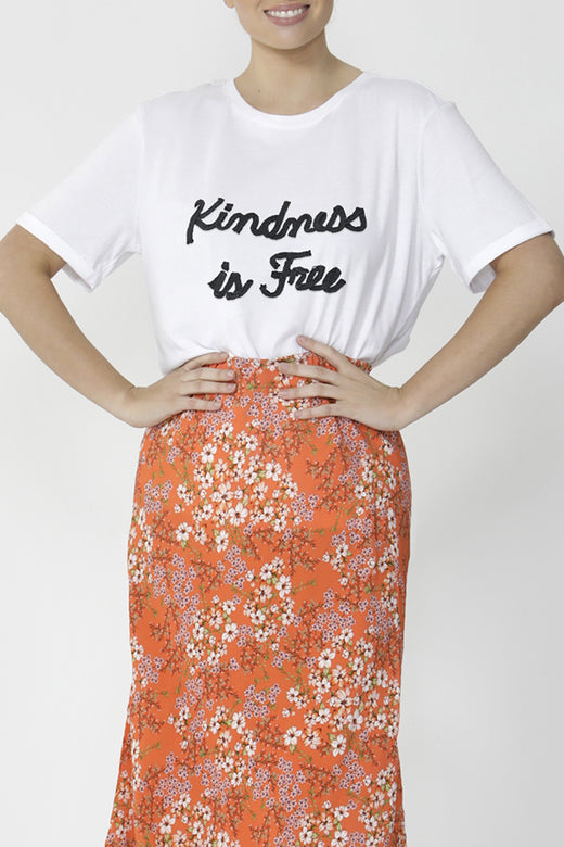 Lou White Kindness is Free Top